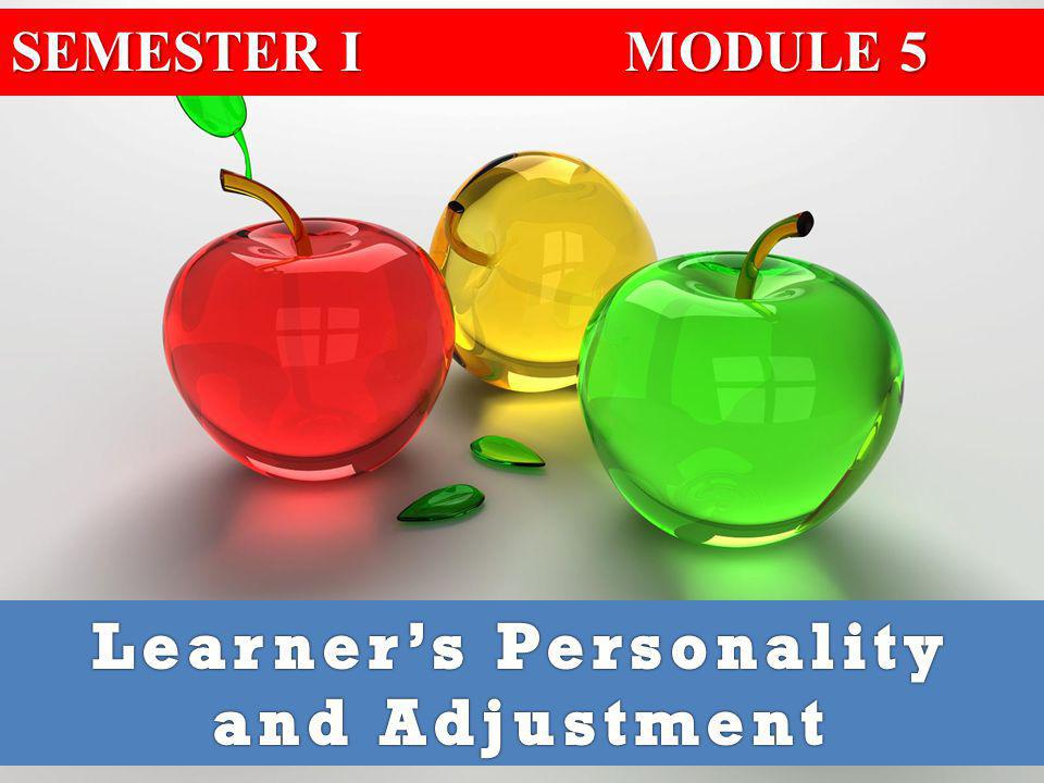 Learner's Personality and Adjustment