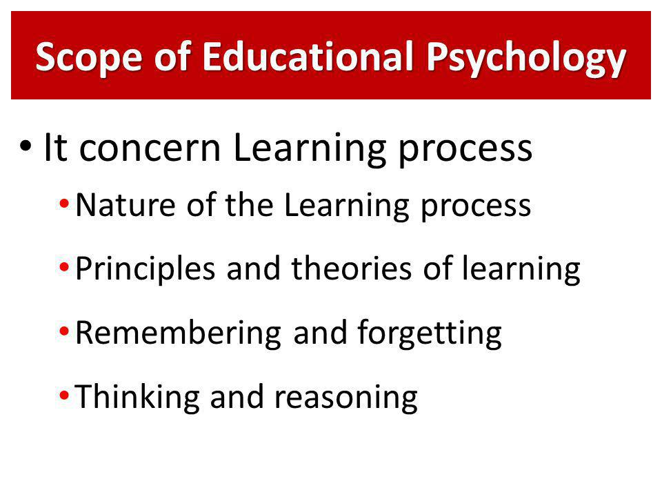educational psychology and learning