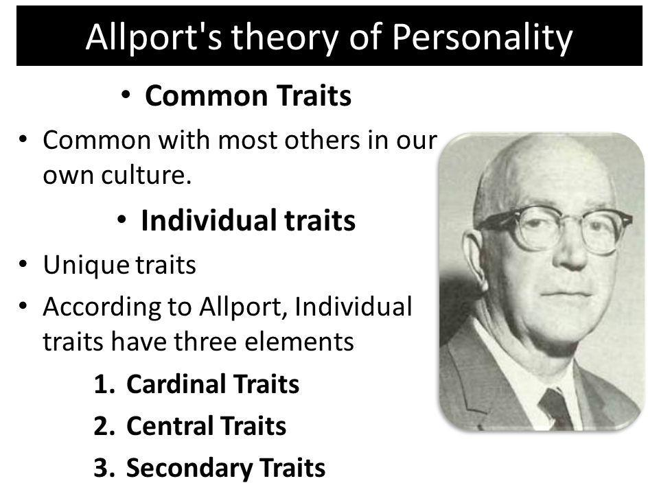 Allport s theory of Personality