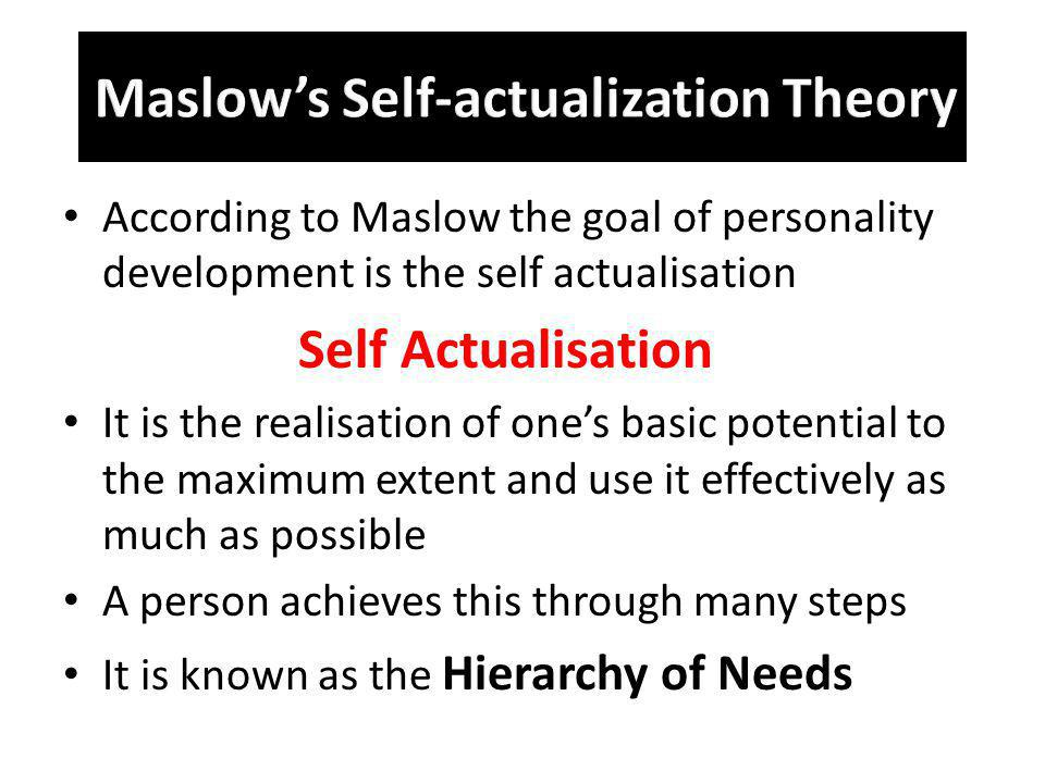 Maslow's Self-actualization Theory