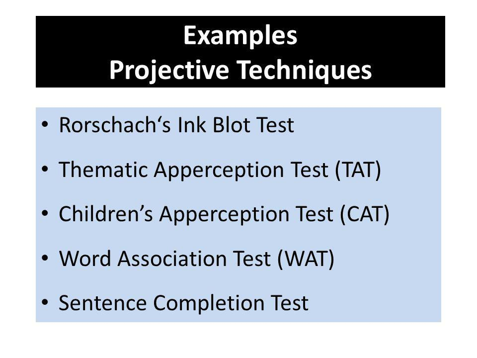 Examples Projective Techniques