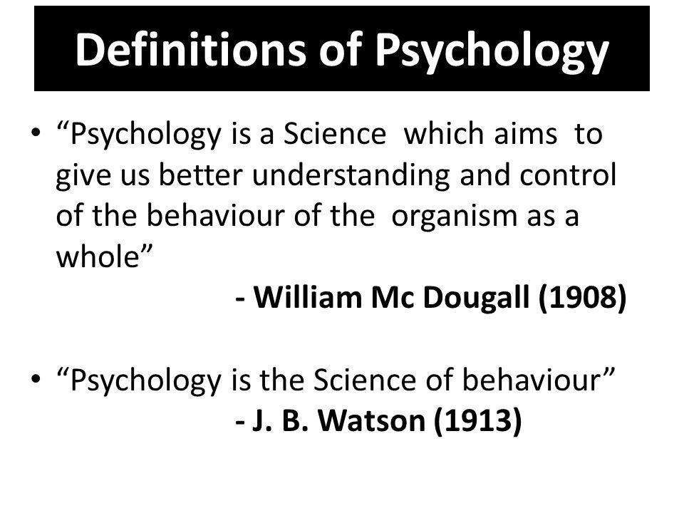 Definitions of Psychology