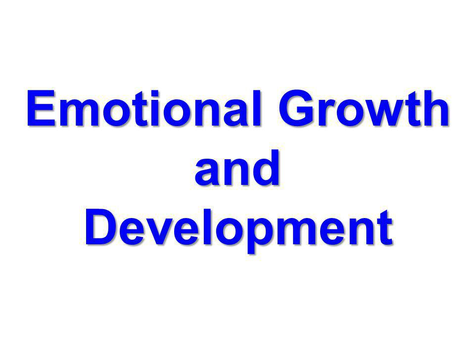 Emotional Growth and Development