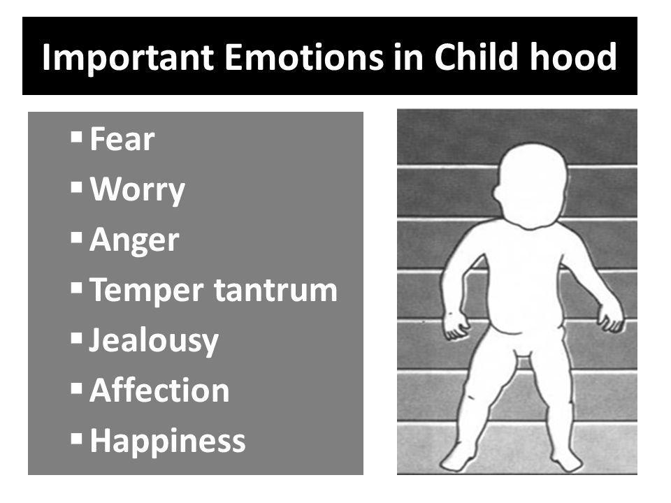 Important Emotions in Child hood