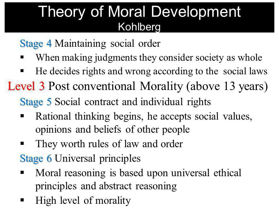 Theory of Moral Development