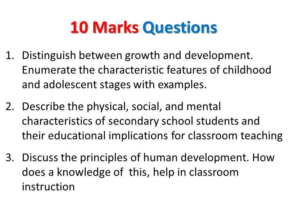 10 Marks Questions