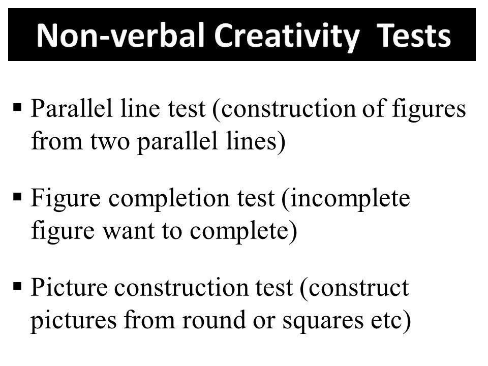Non-verbal Creativity Tests