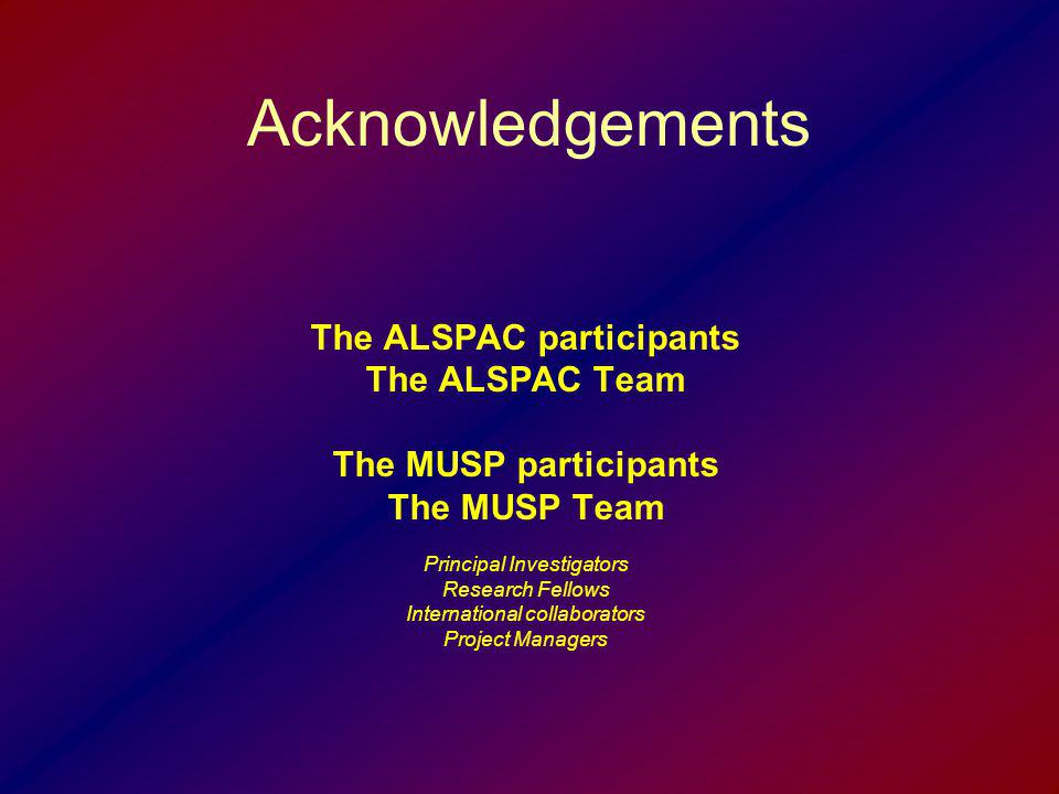 The ALSPAC participants