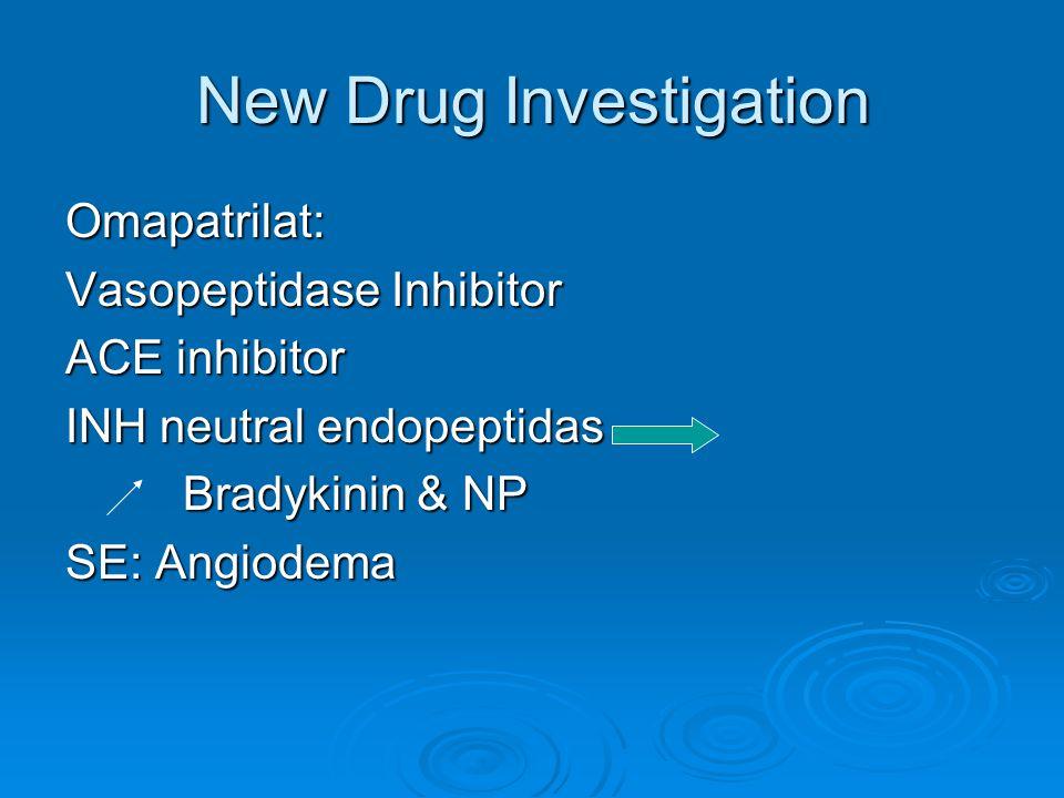 New Drug Investigation