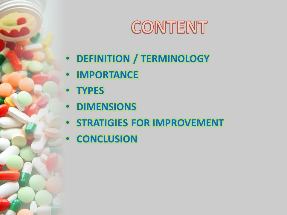 CONTENT DEFINITION / TERMINOLOGY IMPORTANCE TYPES DIMENSIONS