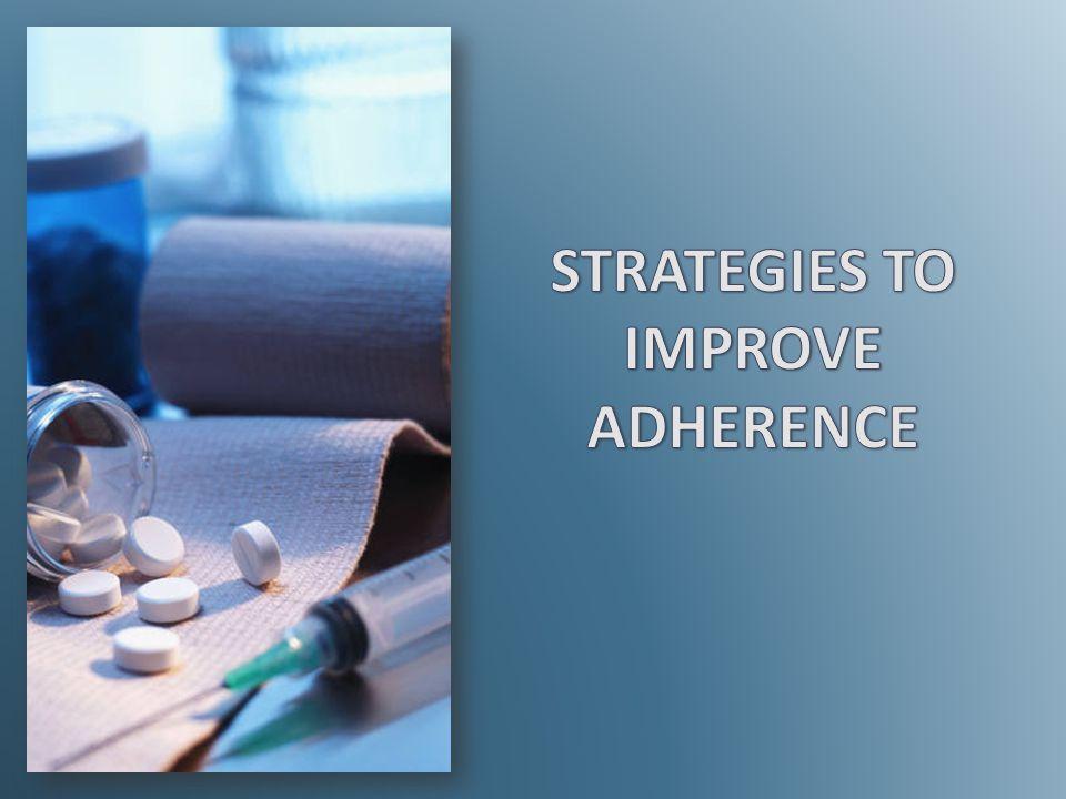 STRATEGIES TO IMPROVE ADHERENCE