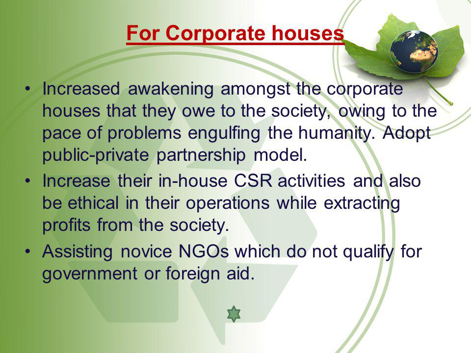 For Corporate houses