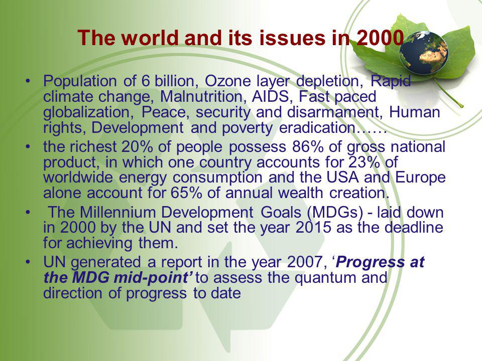 The world and its issues in 2000