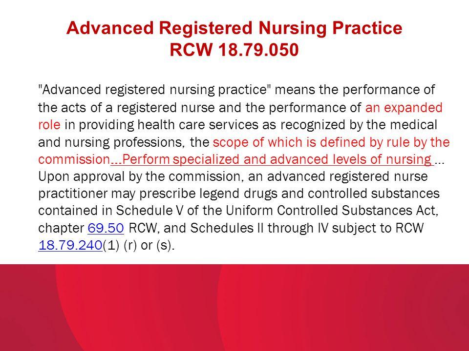 Advanced Registered Nursing Practice RCW 18.79.050