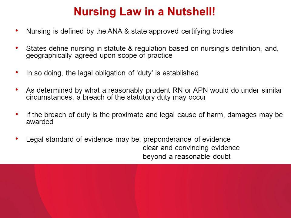 Nursing Law in a Nutshell!