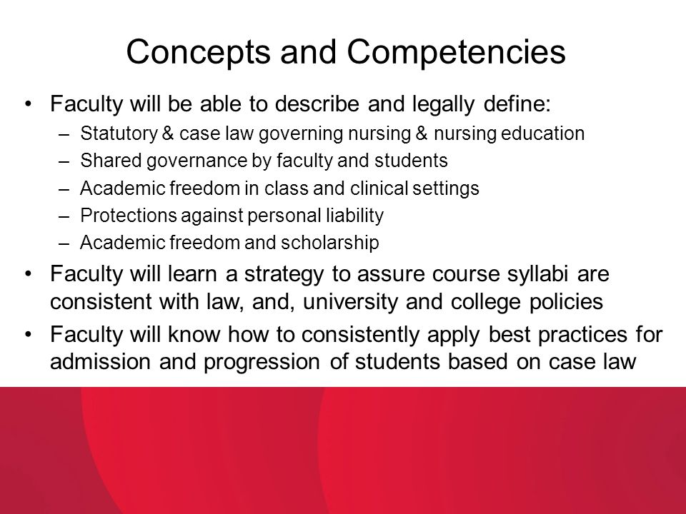 Concepts and Competencies