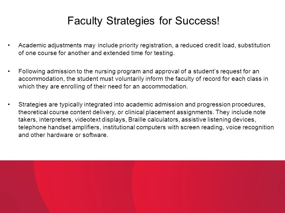 Faculty Strategies for Success!