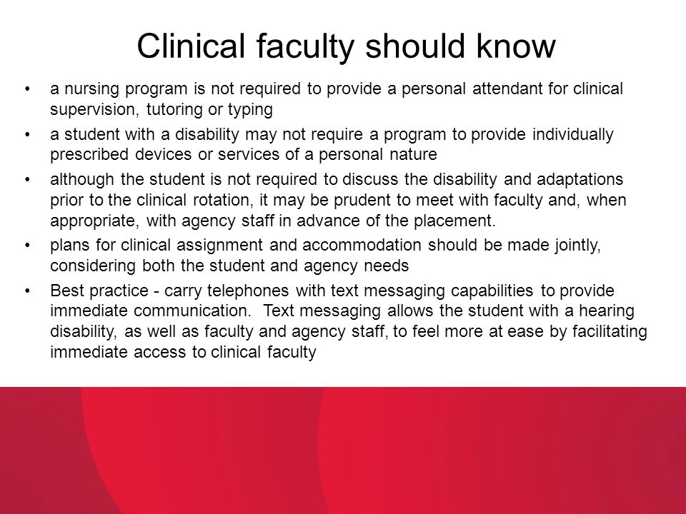 Clinical faculty should know