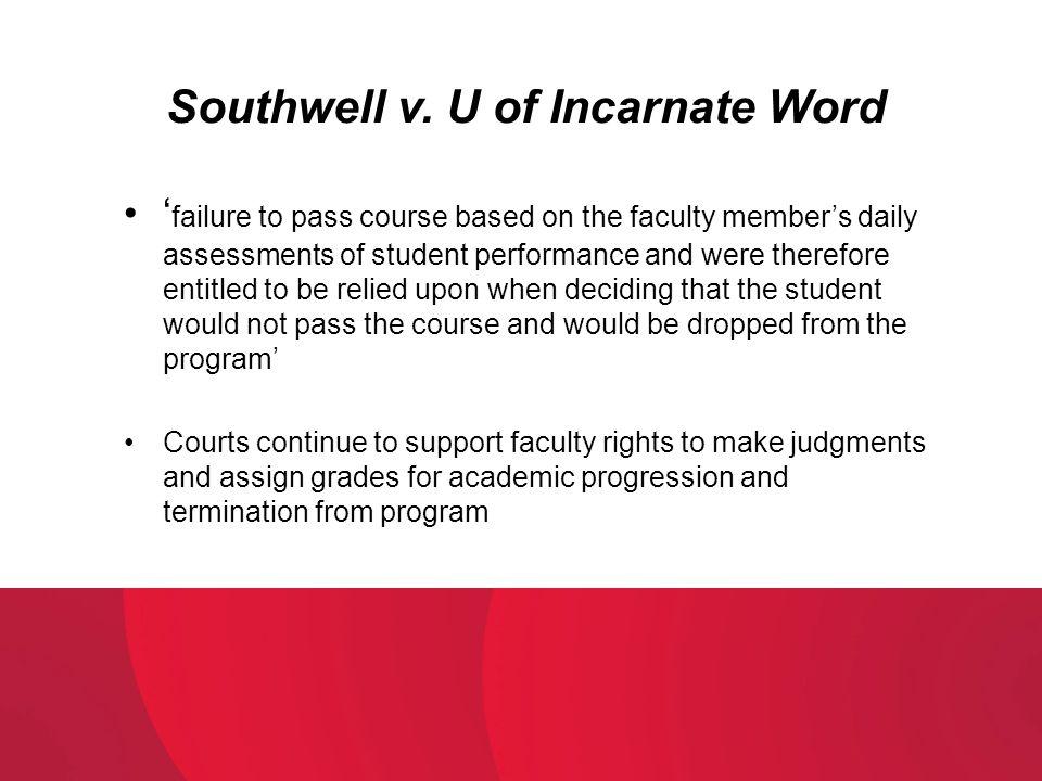 Southwell v. U of Incarnate Word