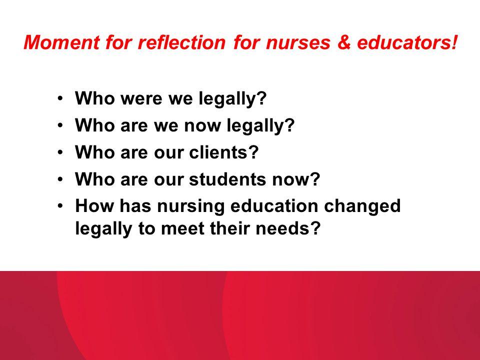 Moment for reflection for nurses & educators!