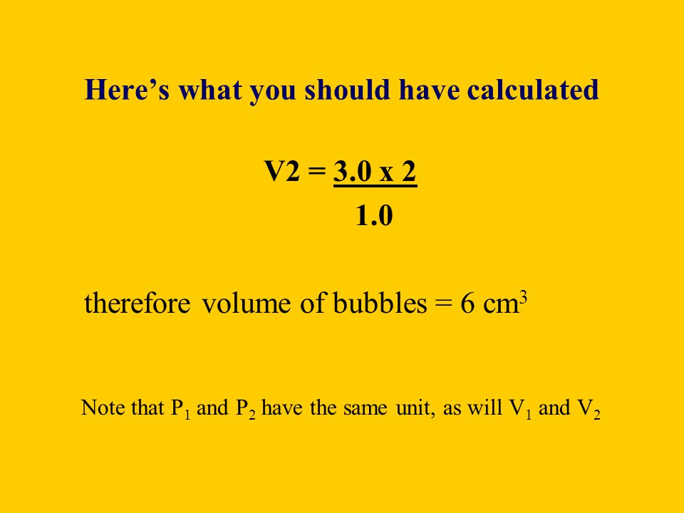 Here's what you should have calculated