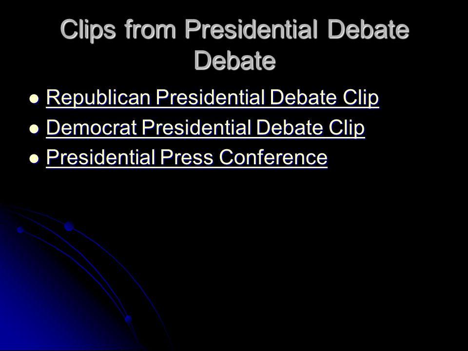 Clips from Presidential Debate Debate