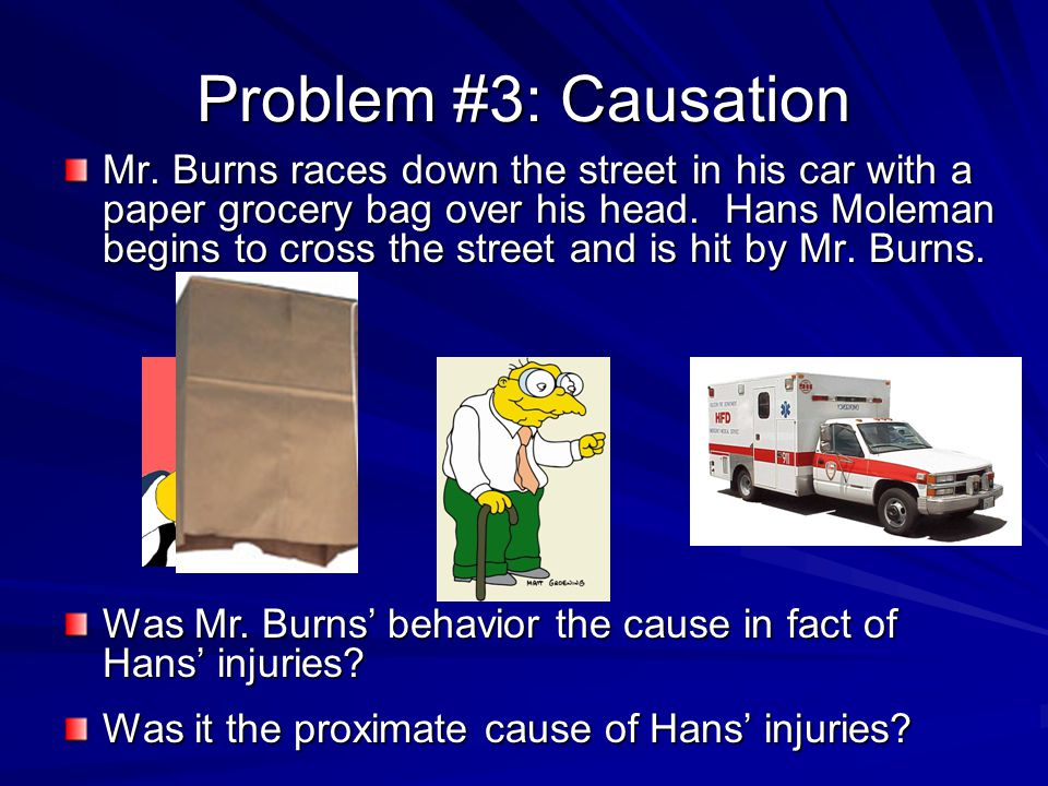Problem #3: Causation