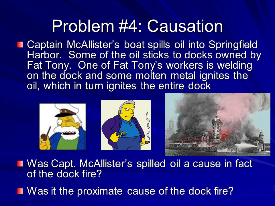 Problem #4: Causation