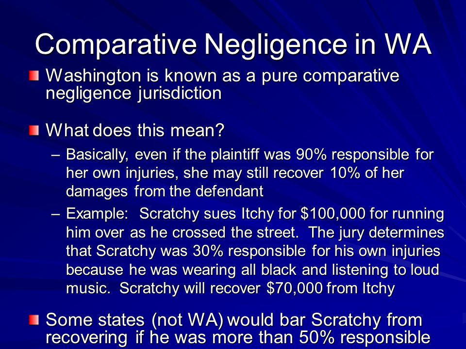 Comparative Negligence in WA