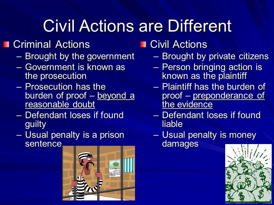 Civil Actions are Different