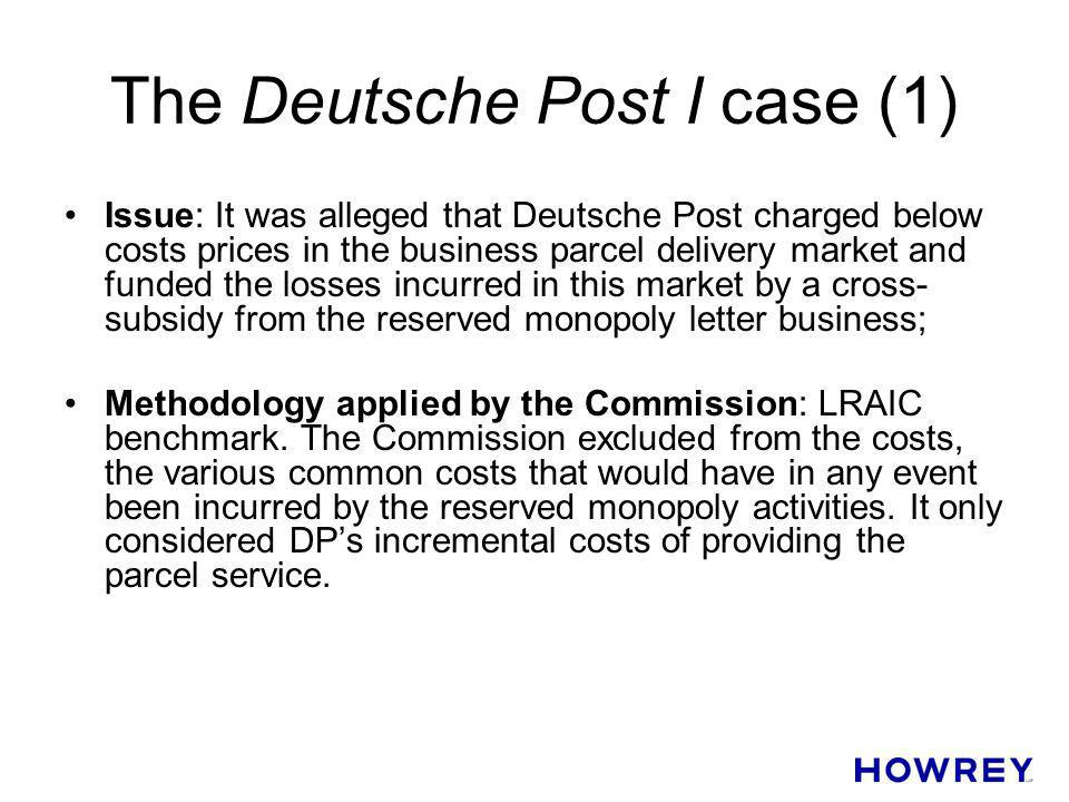 The Deutsche Post I case (1)