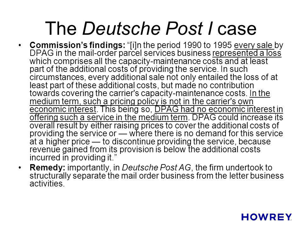 The Deutsche Post I case
