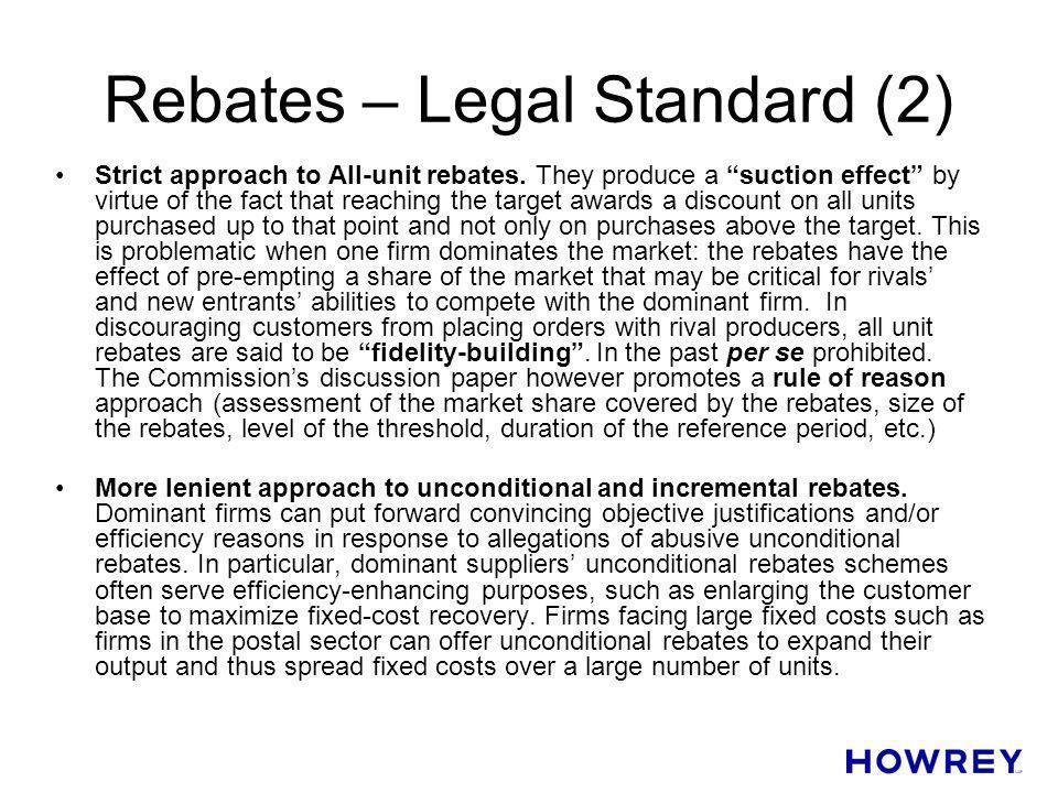 Rebates – Legal Standard (2)