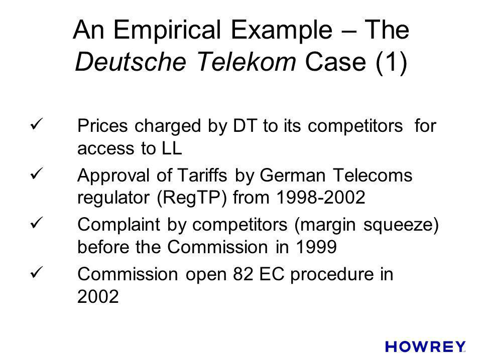 An Empirical Example – The Deutsche Telekom Case (1)
