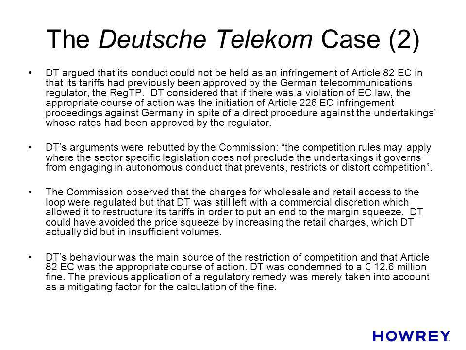 The Deutsche Telekom Case (2)