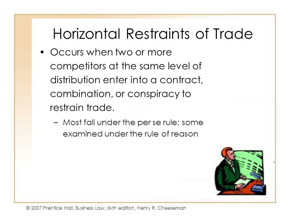 Horizontal Restraints of Trade