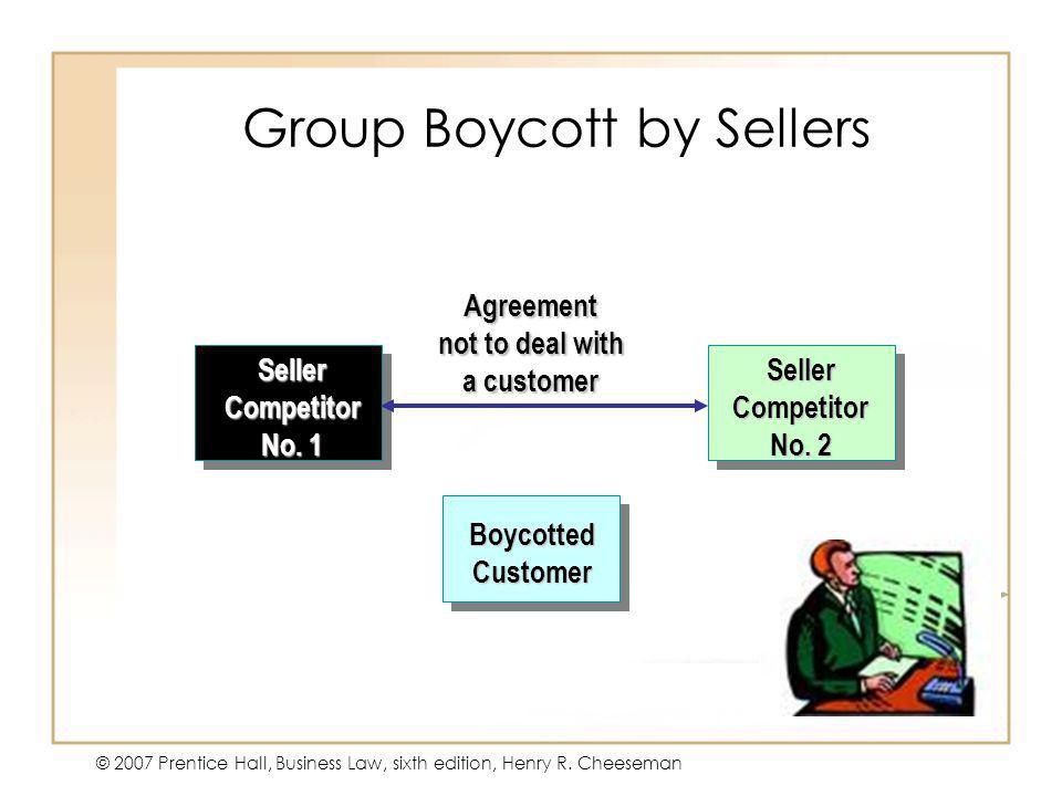 Group Boycott by Sellers