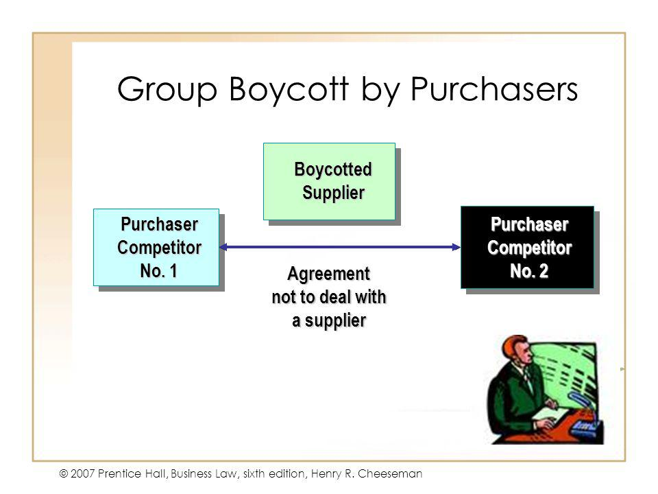 Group Boycott by Purchasers