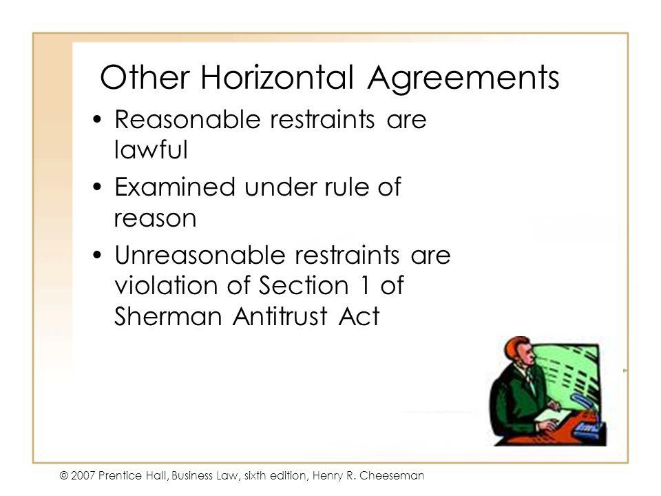 Other Horizontal Agreements