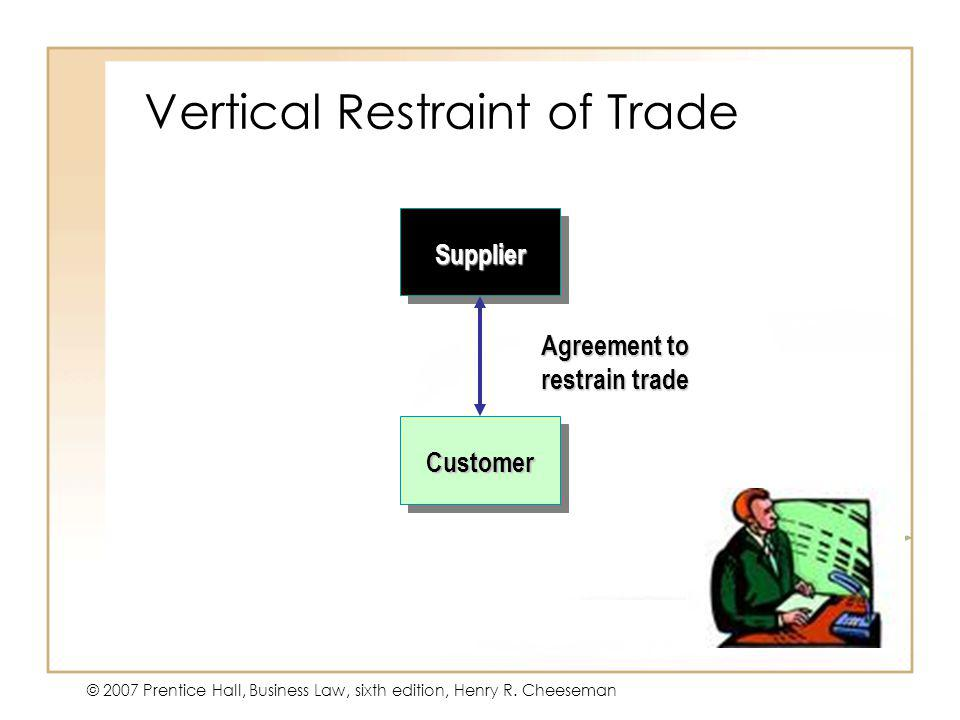 Vertical Restraint of Trade
