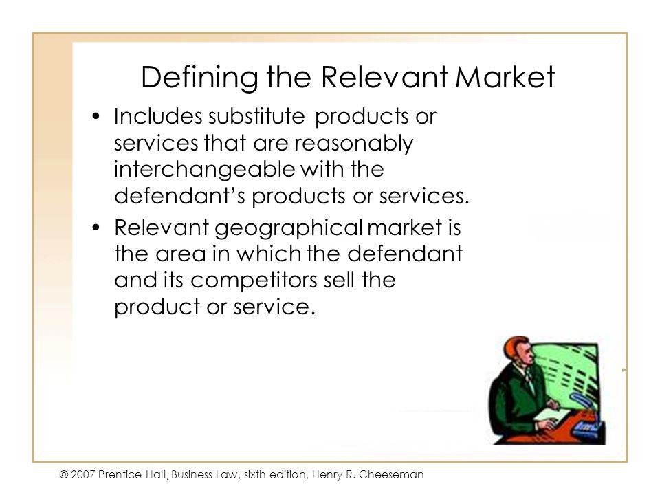 Defining the Relevant Market
