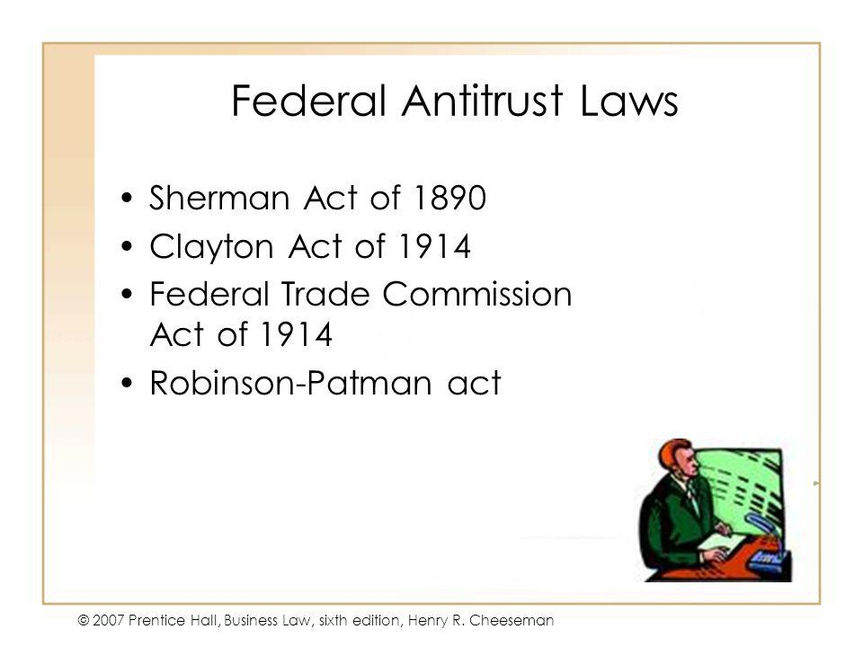 Federal Antitrust Laws