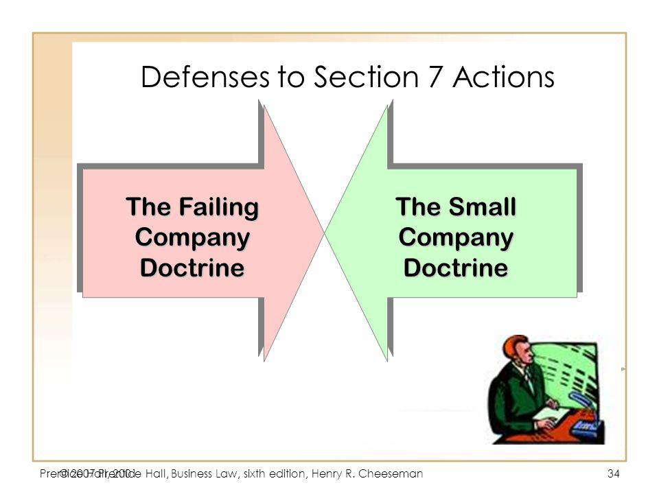 Defenses to Section 7 Actions