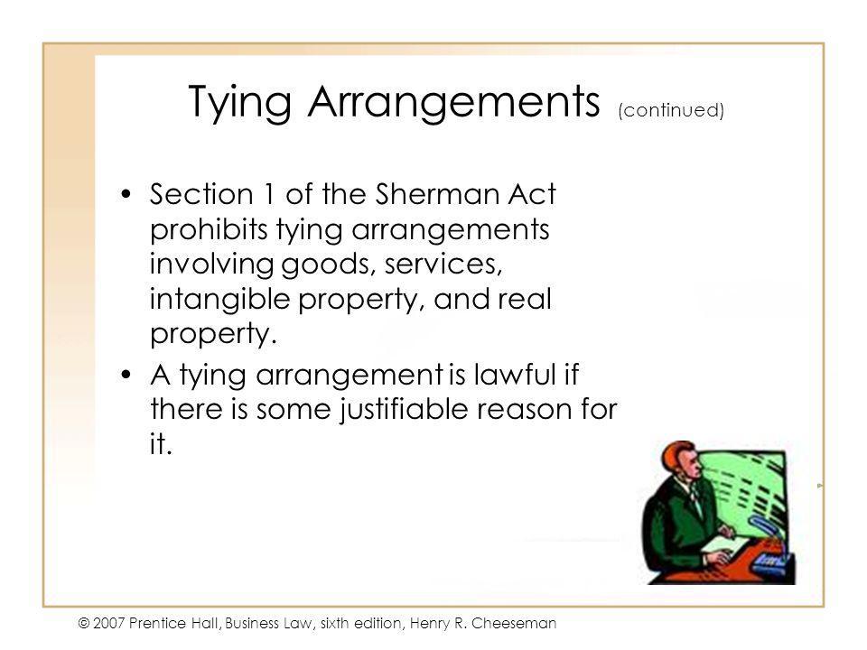 Tying Arrangements (continued)