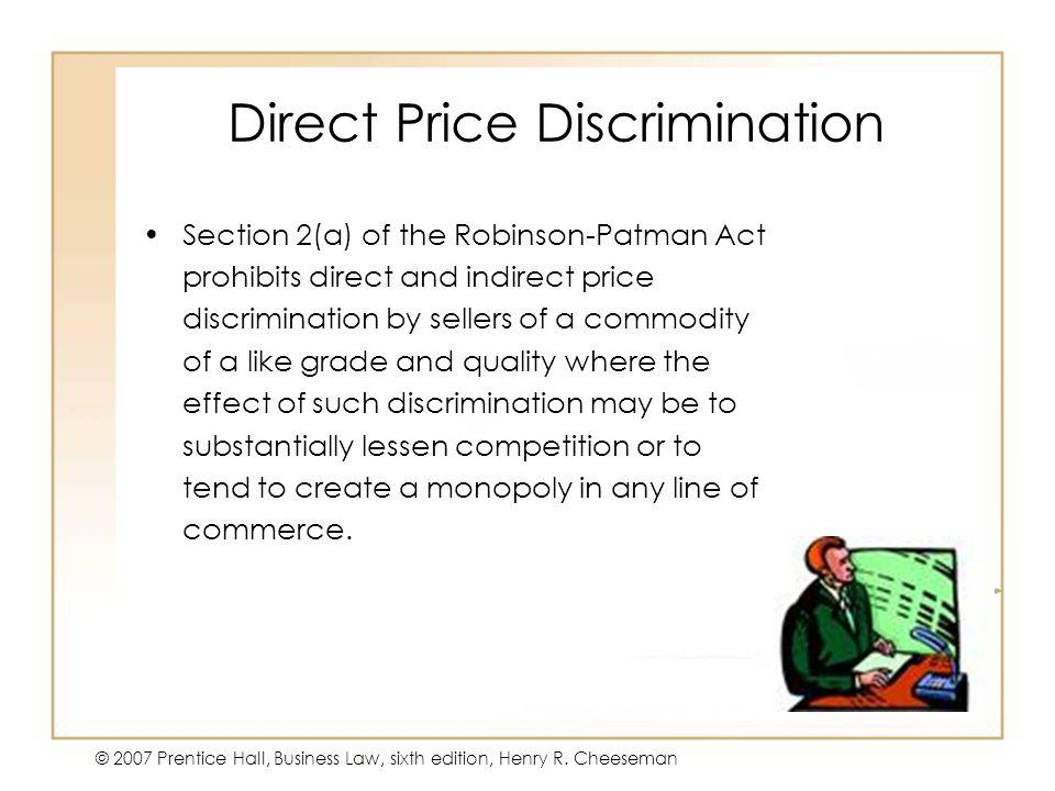 Direct Price Discrimination