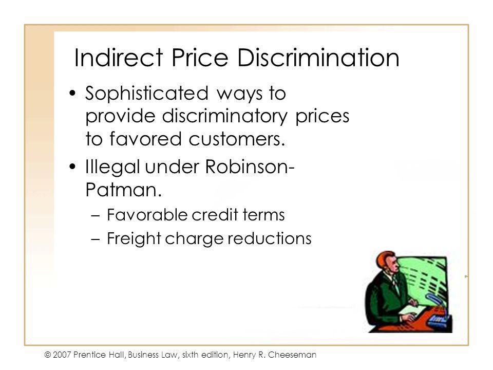 Indirect Price Discrimination