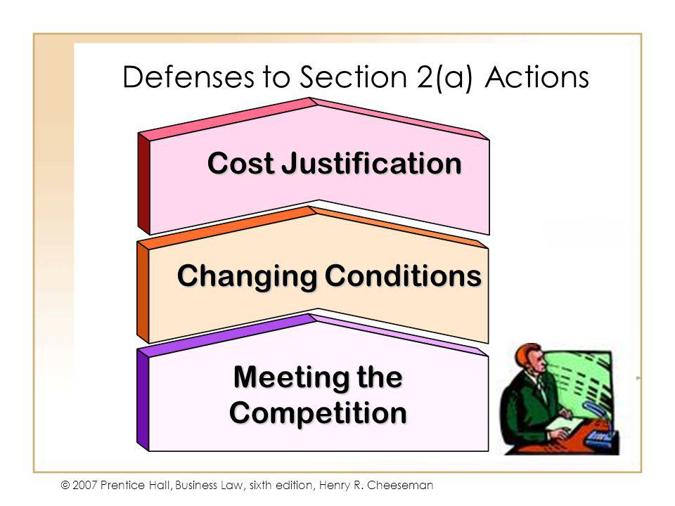 Defenses to Section 2(a) Actions