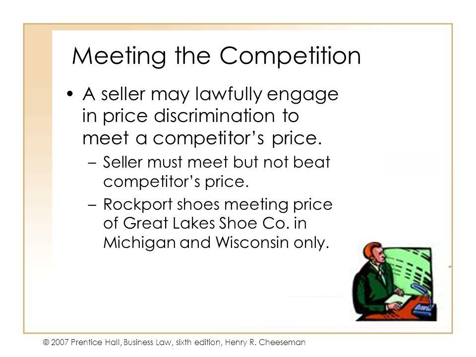 Meeting the Competition