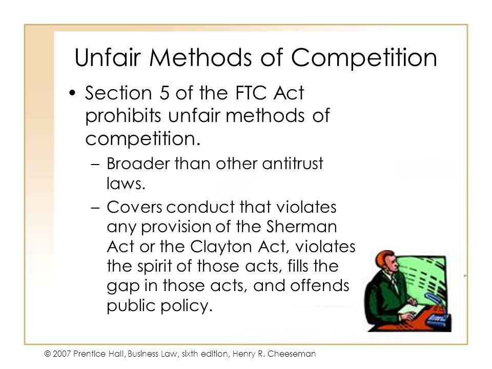 Unfair Methods of Competition