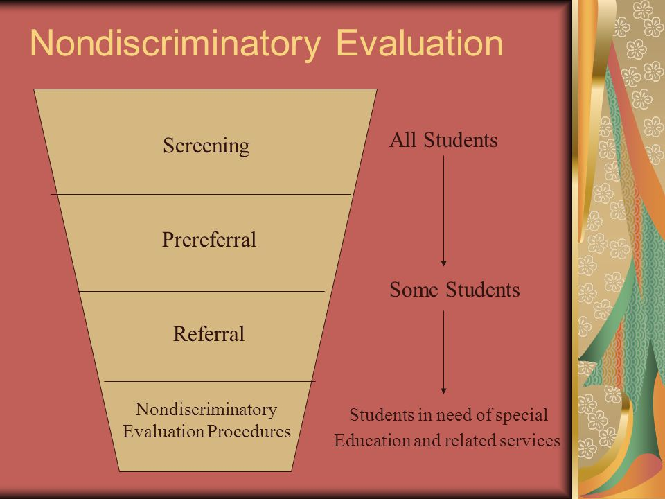 Nondiscriminatory Evaluation